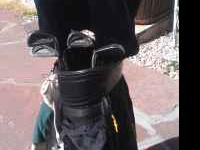 Nice set of golf clubs. Wilson reflex woods , tour