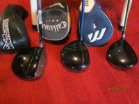 Left to right---Callway I-Mix FT9, Fujikura stiff flex