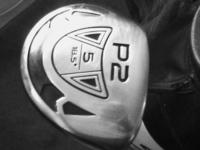GIGA GOLF, LIKE NEW 5 WOOD  & 7 WOOD, WITH HEAD COVERS.