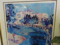 Nice signed framed and matted print of artist Leroy