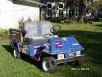 2 COLUMBIA GOLF/UTILITY CARTS GAS POWERED BLUE ONE RUNS