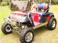 Fast Custom EZGO Gas. 24 HP Honda V-Twin 670 CC Motor.
