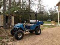 94' Gas powered golf cart, very fast, lifted, hi-beam
