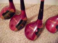 Full set of Persimmon Woods golf clubs They are in