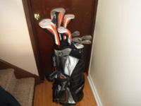 I AM SELLING MY NEWISH GOLF CLUBS & BAG SET. MY BROTHER