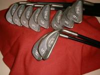 Golf Clubs  PING Karsten I Irons (green dot) + Bag