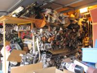 More than 6000 used golf clubs stored in garage.
