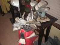 Wilson drivers, Delta Irons3-pw, and Dyna glide putter