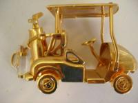 Golf memorability, have a really good Gold Golf Cart