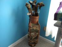NICE GOLF BAG WITH CLUBS THAT HAVE BEEN USED, BUT STILL