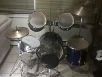 This is a great beginners drum set. Its a percussion