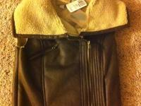 Brown coat size Small FOREVER 21- $15 Blue rain coat