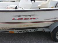 Name of the boat is logic, its on a wesco trailer, it