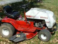 "Good riding lawn mower. The brand is ""white Outdoor""."