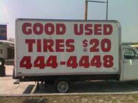 $20 Dollar Tires Good Used Tires with a warranty  Lot`s