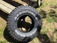 Selling my spare excellent year wrangler MT/R tire.