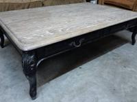 attractive rustic coffee table - real wood, well made,