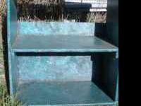 book case with blue teal marble finish ..great for a