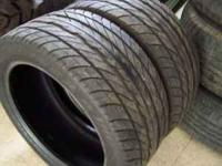 Two Goodyear Eagle FL Tires 245/45 ZR17, with 60% tread