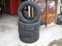 Set of 4 tires with 1/2 tread or better.  Location: