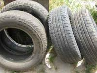 four used tires...size p255/65 r18...hl