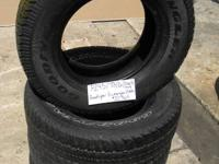 SET OF 4 USED TIRE Goodyear Wrangler 2457016  	FOR MORE