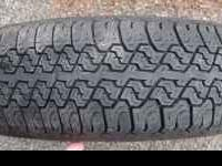 "Goodyear T-Metric 155R12 tire, 8/32"" tread $8,"
