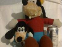 2 Goofy stuff toys, one is about 17 inches tall and the