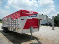 2011 gooseneck brand 24ft aluminum stock trailer...2