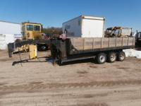Tri axle gooseneck dump trailer w/ramps. Engine runs