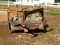 Gooseneck Flatbed Trailer with ramps for sale $1250.00