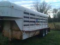 Gooseneck trailer in good shape call  or