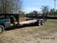 20FT. X 6FT. 2IN. GOOSENECK TRAILER GOOD TIRES ELECTRIC