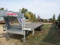 2009 Gooseneck Flatbed. Dual Wheel Tandem Axle. 24ft