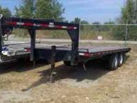 20 ft gooseneck trailer tandem axle $3200 has great