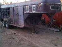 16 foot gooseneck stock trailer for sale! good floor