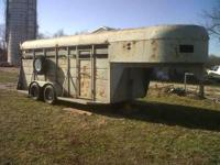For sale is a Gooseneck Livestock Trailer. Good