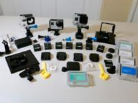 GoPro 3+ Silver & GoPro 3+Black Package with many