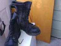 Gore tex leather boots, soft toe. Worn once then out