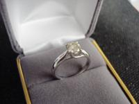 Gorgeous .70 Ct New Never Worn Diamond Solitaire Ring