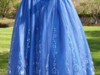 Gorgeous Ball Gown/Quinceanera Gown, Royal Blue, Size