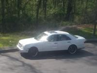 "I have a beautiful white Benz with black 19""rims"