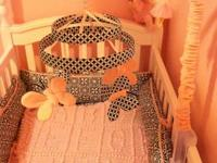 I have a beautiful baby girl crib set for sale for