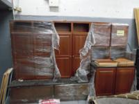 I have a gorgeous Cherry wood mudroom Cabinets W/