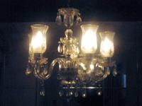 VINTAGE 5 Globe Lights Gorgeous Vintage /Antique Mixed