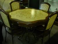 Solid wood and iron kitchen room table with beautiful