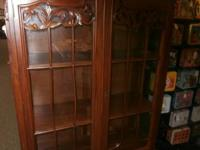 For sale is a beautiful, opulent curio cupboard. This