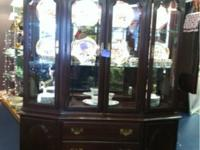Gorgeous Ethan Allen cherry china cabinet. Retailed at