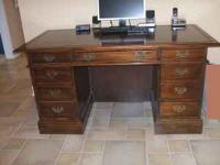 GORGEOUS EXECUTIVE DESK with Leather inlay and