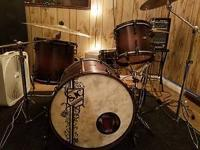 Beautiful and fully customized 4-piece drum kit by SJC